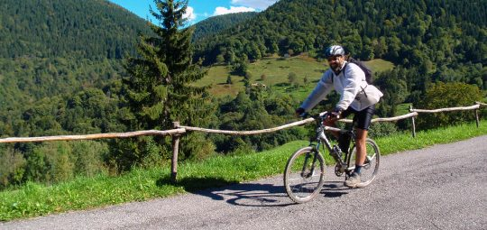 In bici sul Colle San Zeno