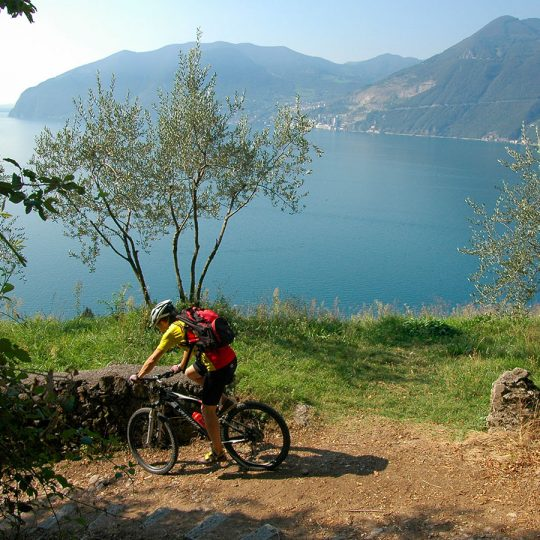 Bici percorso panoramico lago d'Iseo