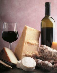 vino- formaggio sapori