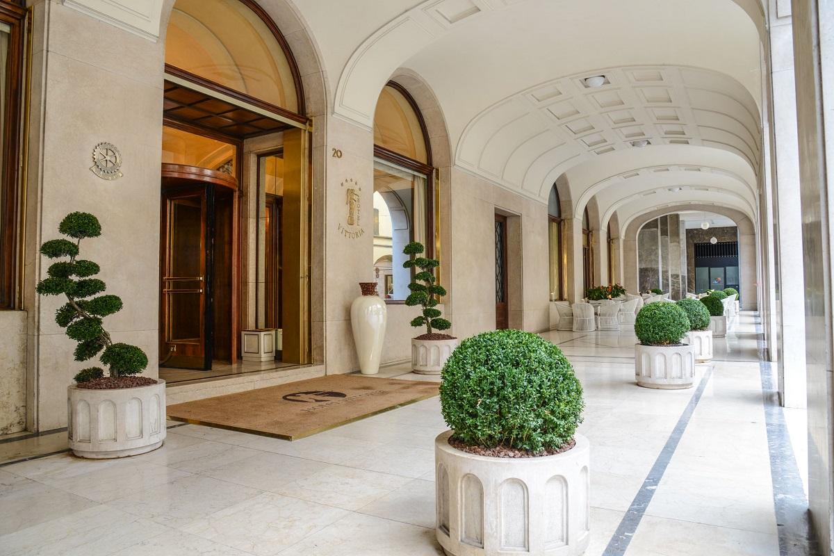 Ingresso Hotel Vittoria, Brescia