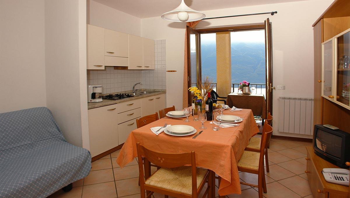Residence Ruculì, soggiorno e cucina