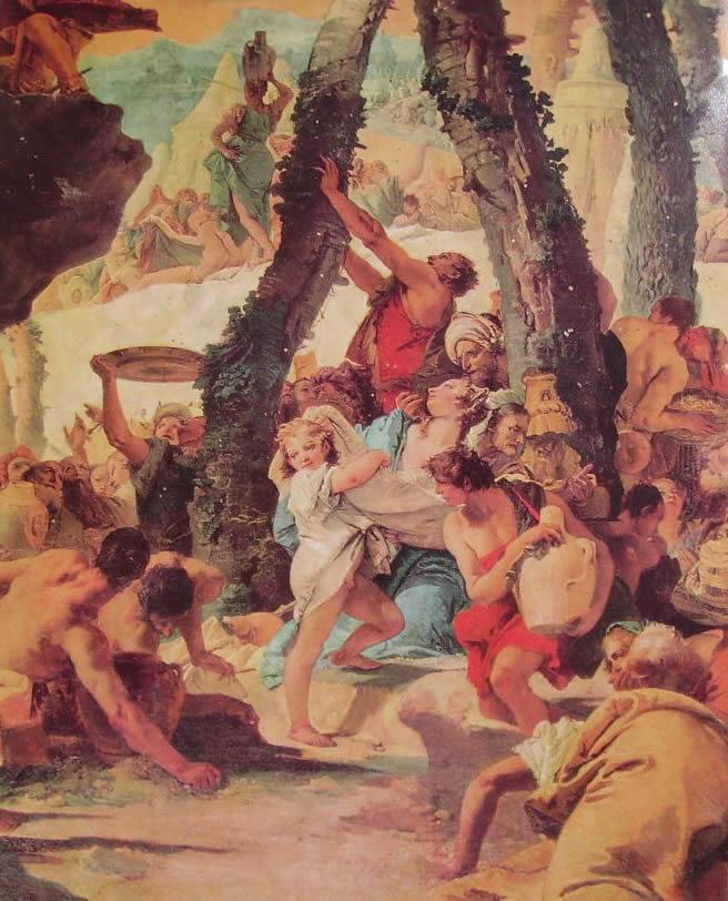 verolanuova brescia Gian Battista Tiepolo - La raccolta della manna