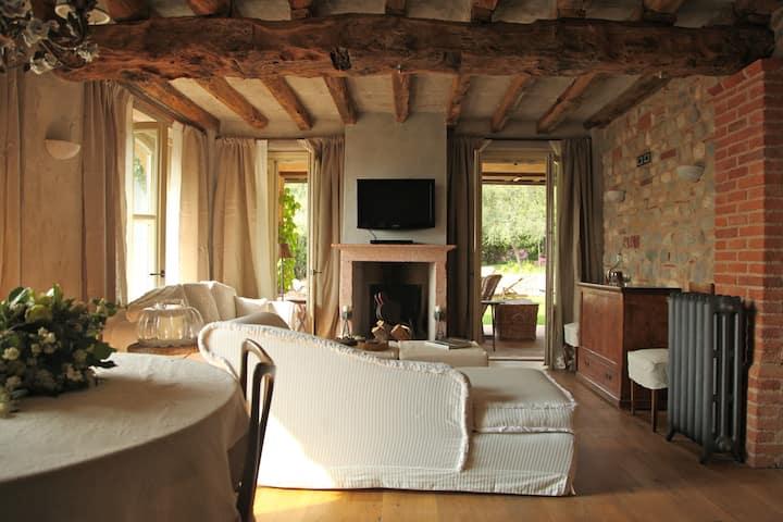 Salotto Villa La Criolda, lago di Garda