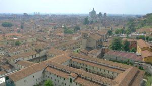 Vista dall'alto di Brescia