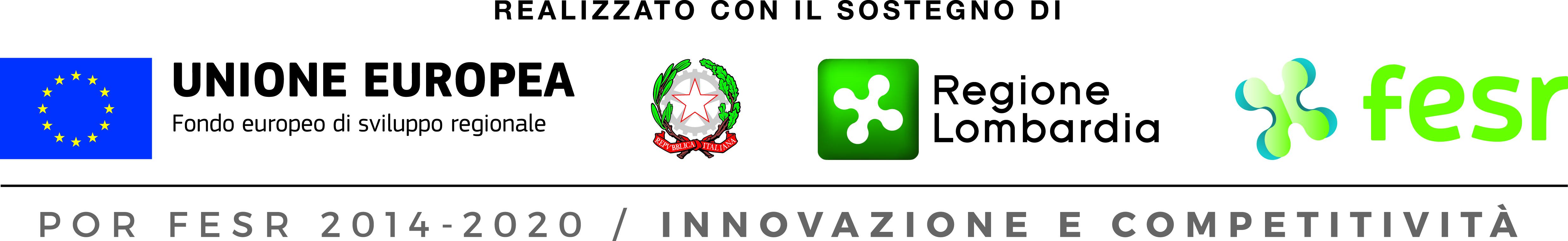 Logo UE - Logo regione lombardia - Logo Fesr