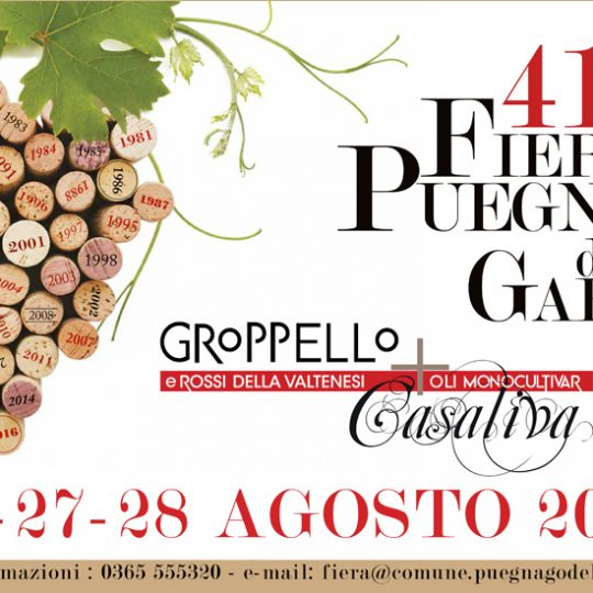 Quarantunesima Fiera di Puegnago del Garda: dal 26 al 28 agosto 2017 un weekend con i rossi della Valtenesi