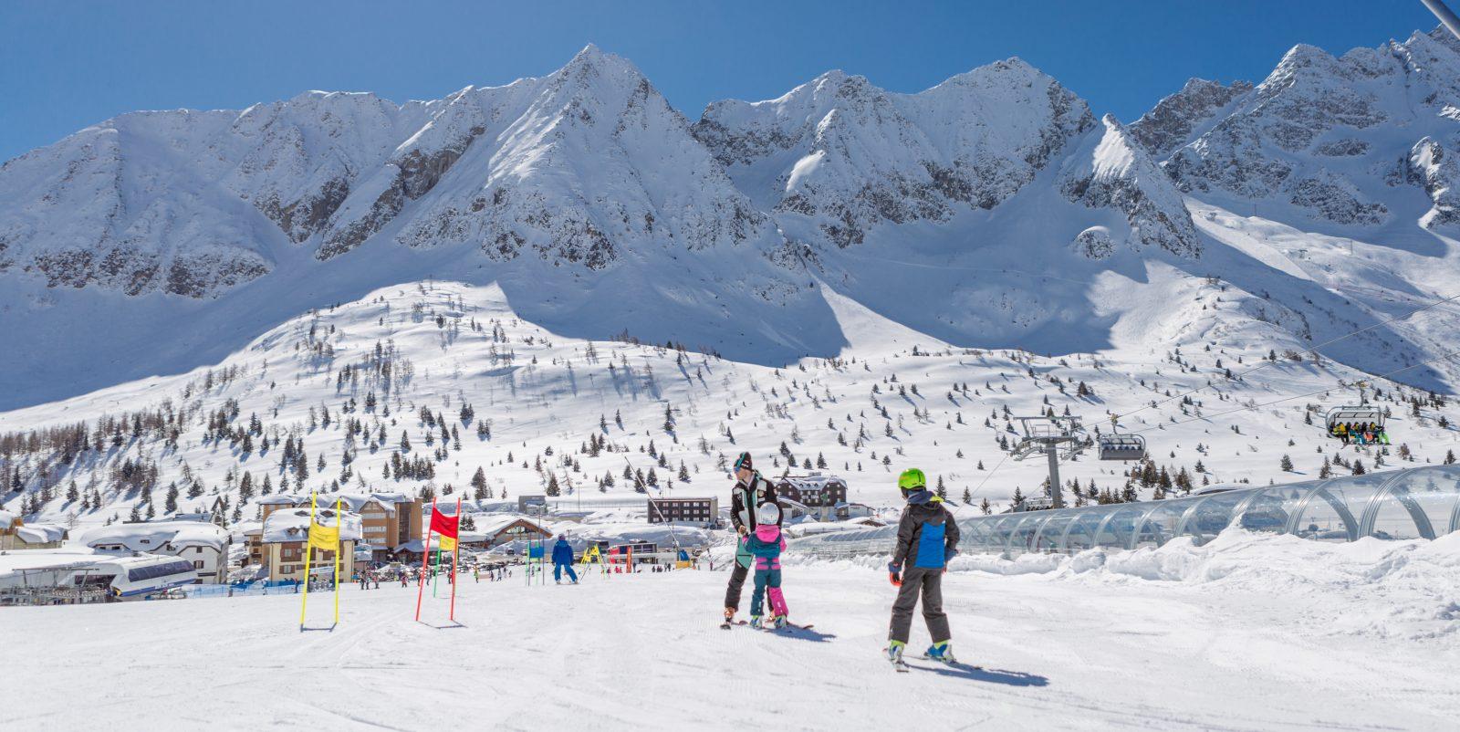 La montagna bresciana, inverno, con i bambini
