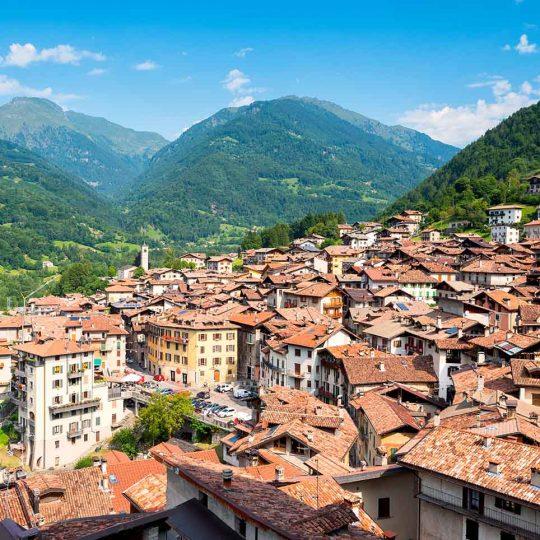 Borgo medievale di Bagolino in provincia di Brescia