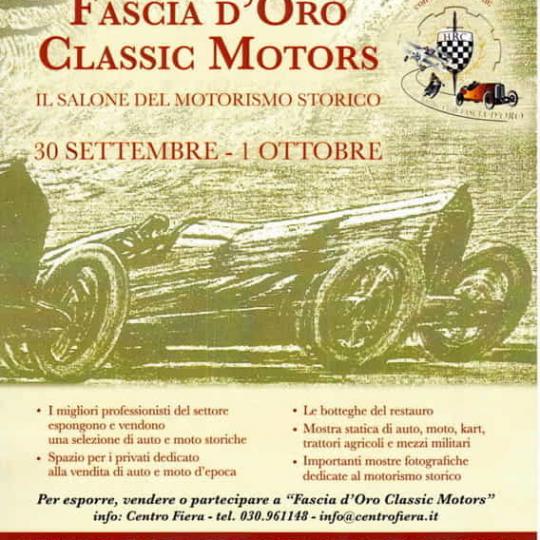 Fascia d'Oro Classic Motors in fiera a Montichiari