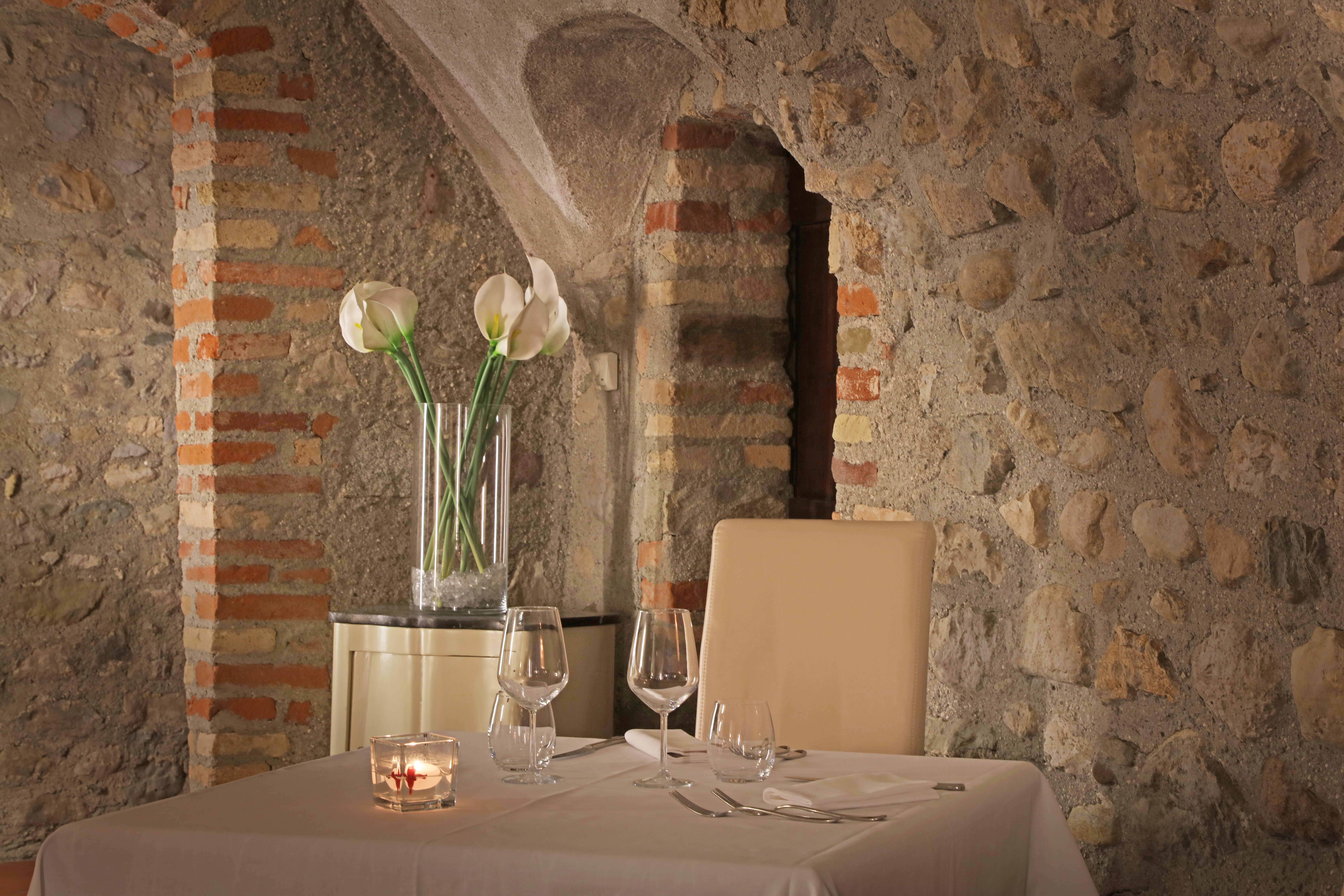 tavolo del ristorante san rocco