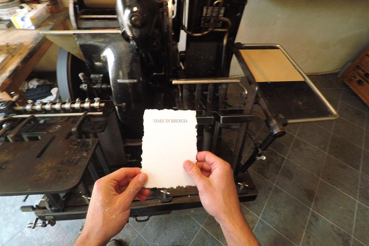 Toscolano 1381 Il foglio di carta artigianale