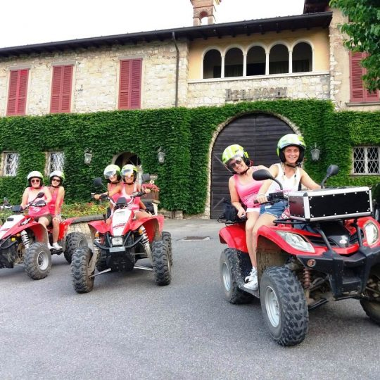 Quad in Franciacorta, visita in cantina