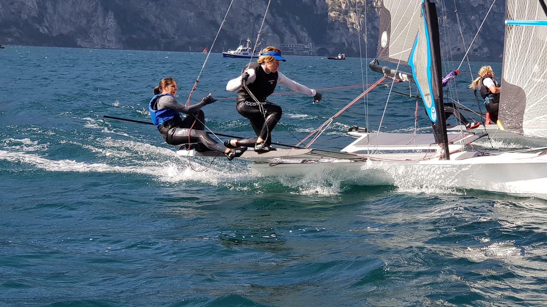 Skipper Margherita Porro sul lago di Garda