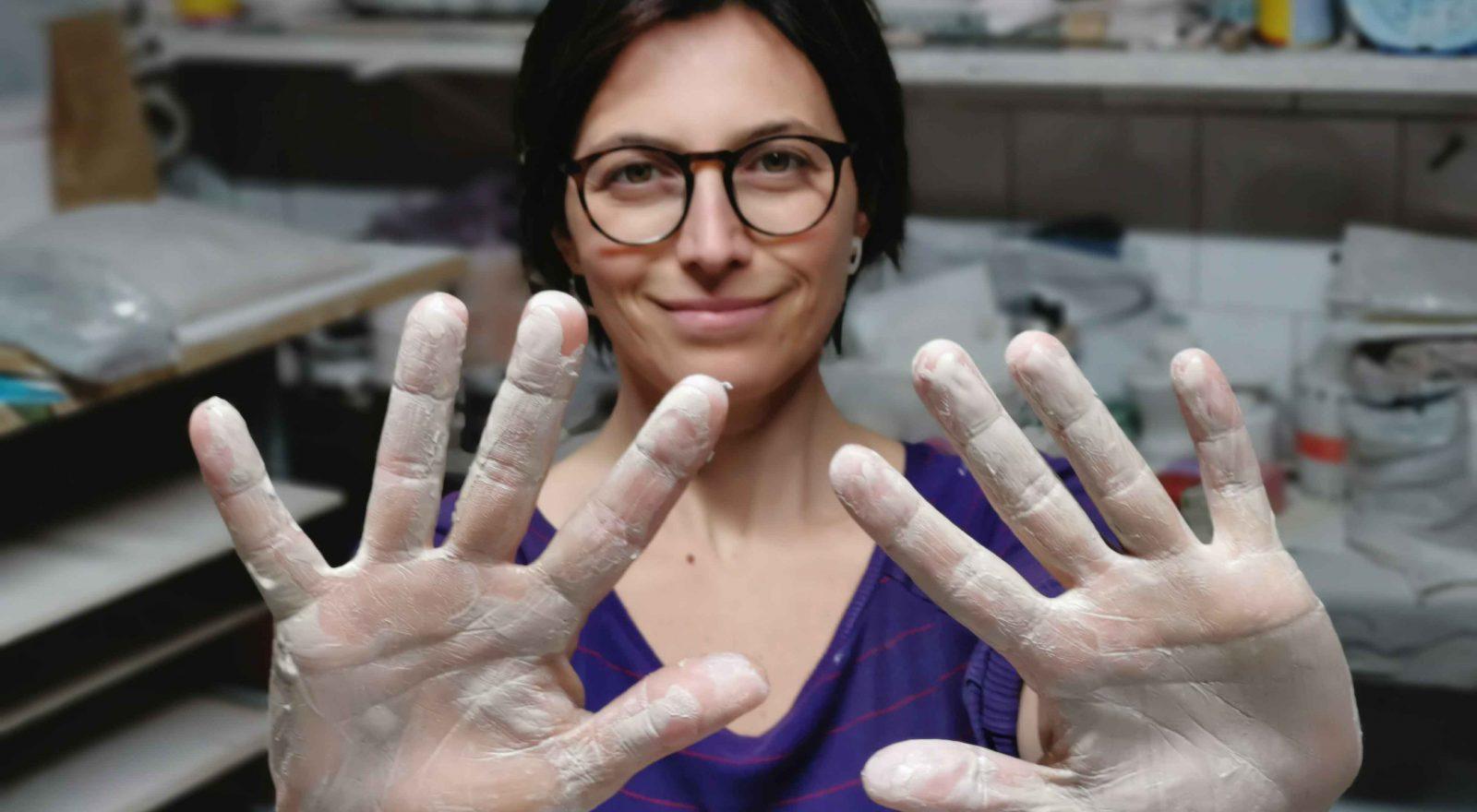 Ceramista bresciana Off Art Pamela Venturi