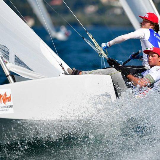 Gallinaro al trofeo Bianchi di Gargnano sul lago di Garda