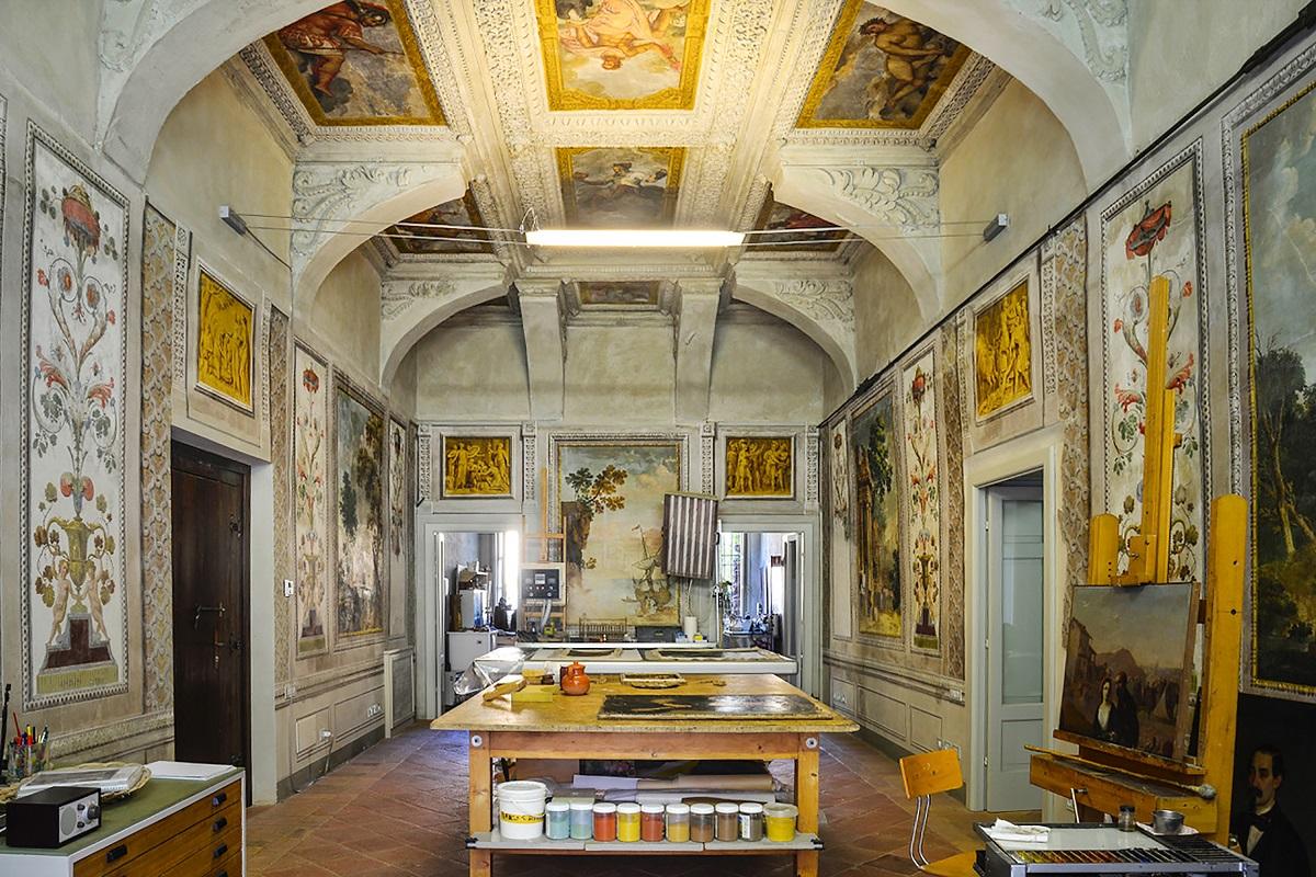 Bottega Giangualano Brescia restauro affreschi