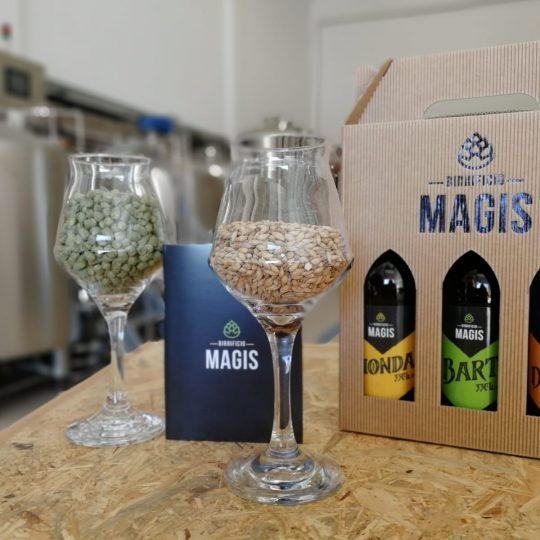 Birrificio Magis materie prime e bottiglie di birra