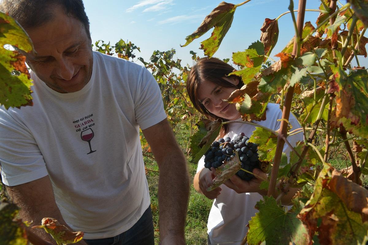 Francesca e Gigi, titolari dell'Azienda agricola La Guarda