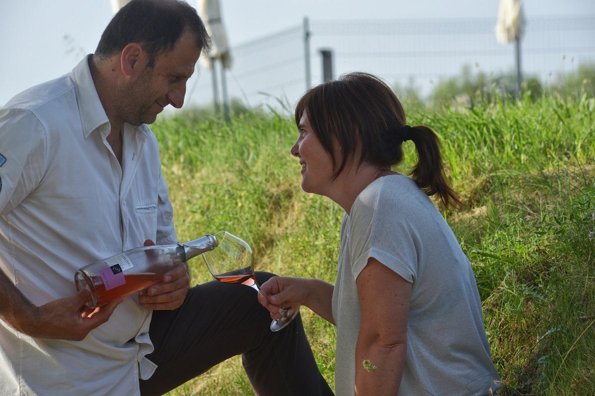Francesca e Gigi titolari dell'Azienda Agricola La Guarda
