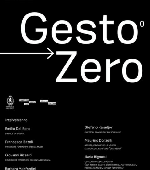 Locandina Mostra GestoZero Brescia