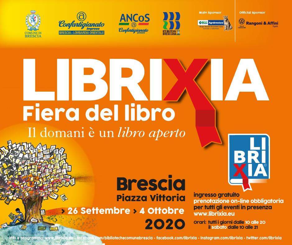 Poster Librixia 2020 - Fiera del libro a Brescia