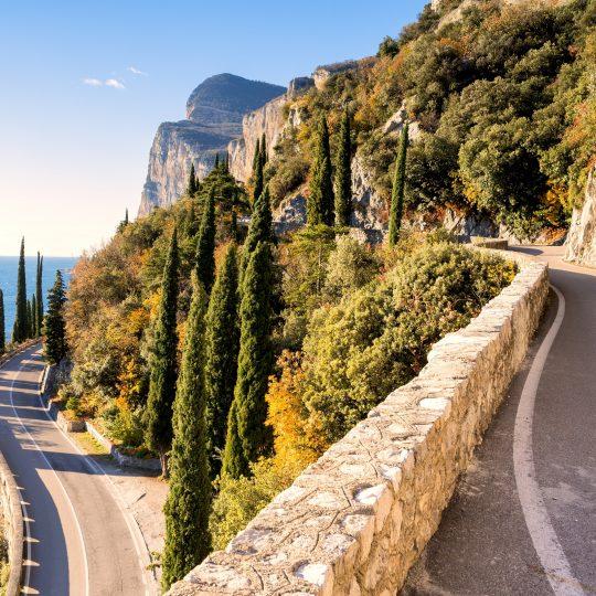 Strada della Forra, lago di Garda