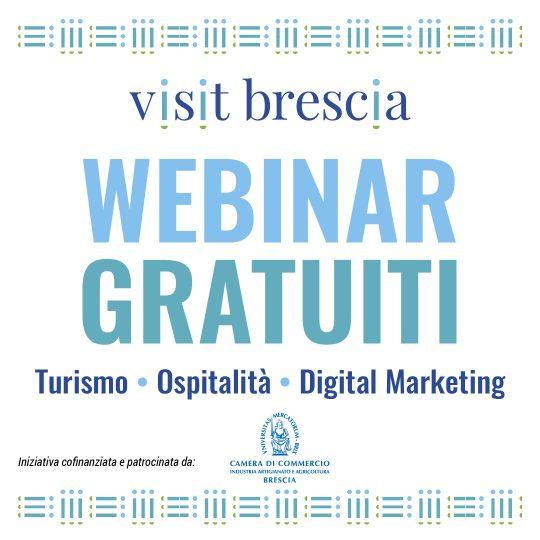 Visit Brescia Webinar Gratuiti per operatori turistici