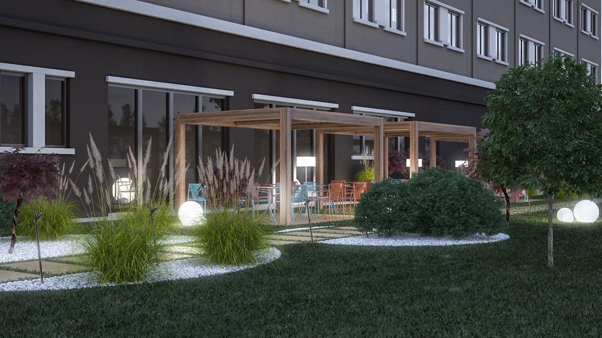 Hotel Hilton Brescia, giardino