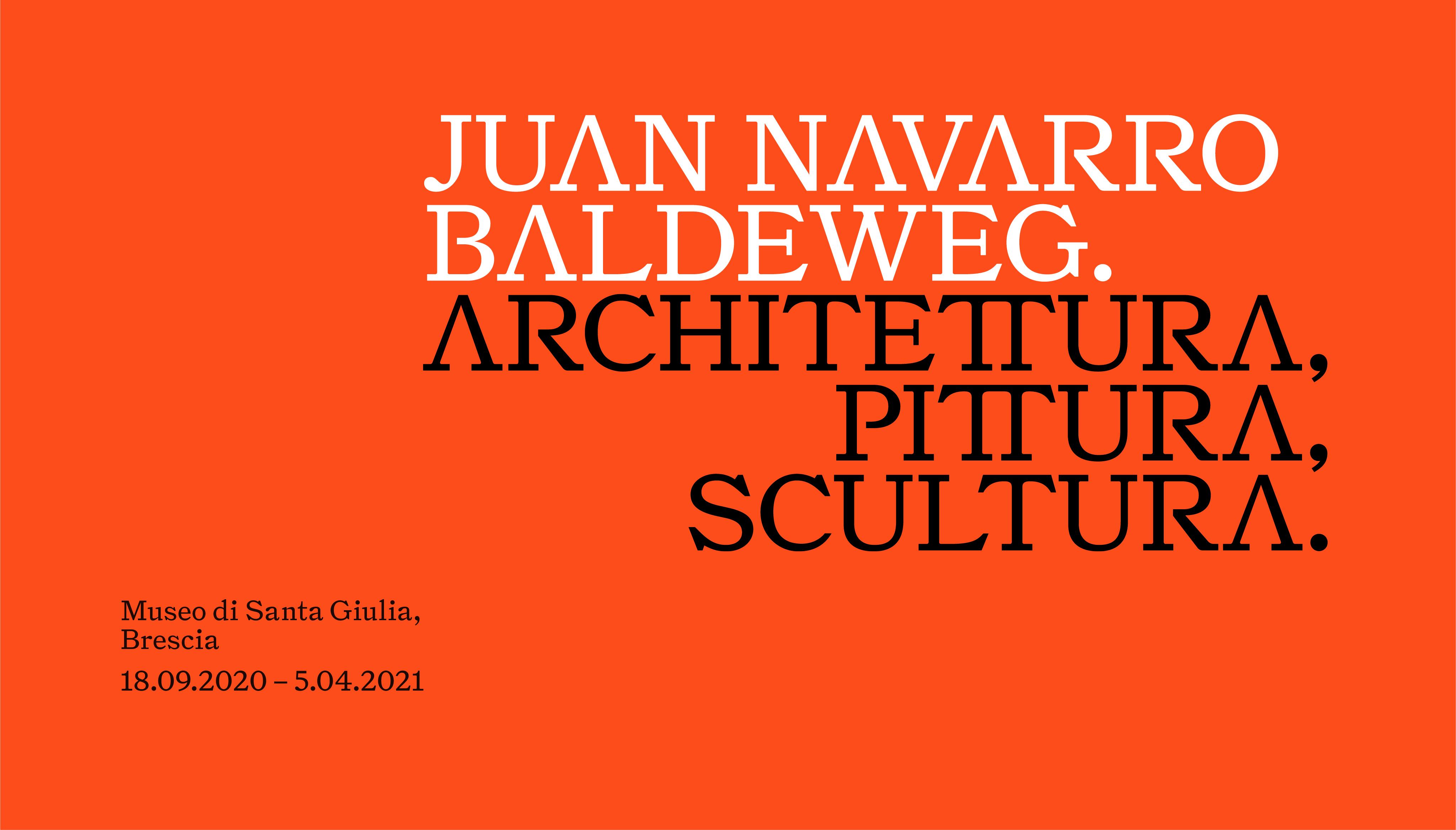 locandina mostra Juan Navarro Baldeweg