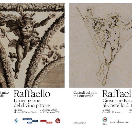 """Locandina Mostra """"Raffaello. Custodi del mito in Lombardia"""""""