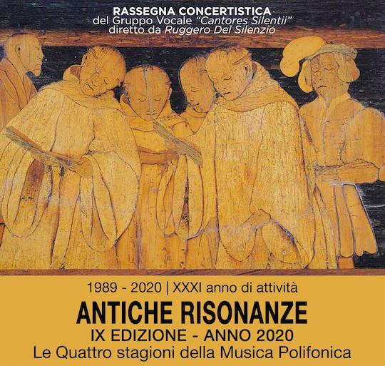"""locandina evento """"antiche risonanze"""" 2020"""