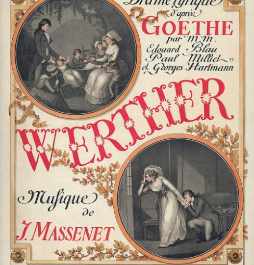 Locandina del Werther di Massenet