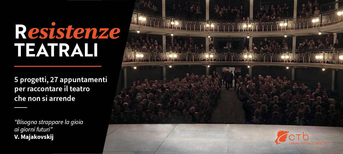 Locandina Resistenze teatrali - CTB