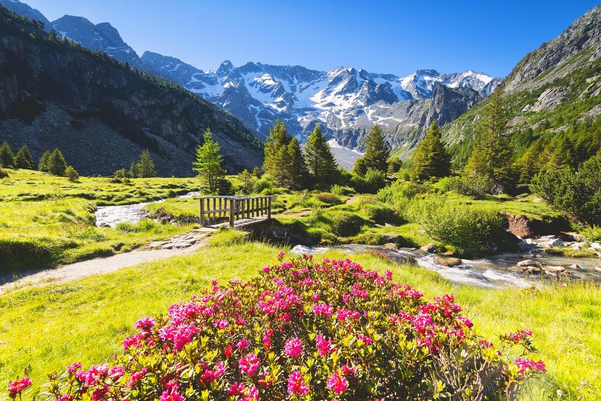 Valle Camonica panorama alta montagna