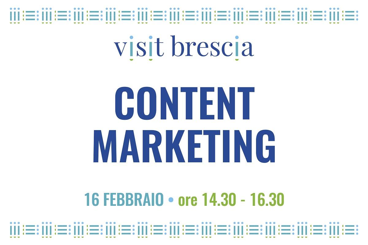 "Webinar Visit Brescia ""Content Marketing"", 16 febbraio 2021"