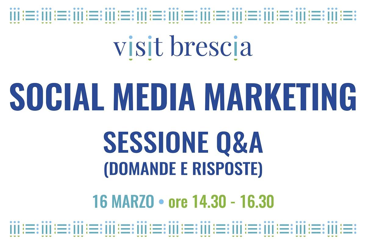 """Webinar Visit Brescia """"Social Media Marketing: sessione domande e risposte, 16 marzo 2021"""